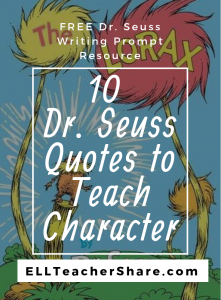 Dr. Seuss Quotes to Teach Character