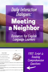 Daily Interaction Dialogue: Calling 911 Resource for English Language Learners.  Daily Interaction Dialogues contain scripts for  everyday social situations, along with vocabulary & reading comprehension questions & answers. Using the blogpost suggestions, these resources provide lessons with a balance of Reading, Writing, Speaking, and Listening, while honoring the Multiple Intelligences & Mindfulness.