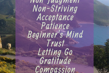 Attitudes of Mindfulness include Non-Judging, Patience, Beginner's Mind, Trust, Non-Striving, Acceptance, Letting Go, and more! Awareness of these attitudes brings calm. Choosing one of these attitudes as an intention can be a simple positive mindset reframe. #AttitudesofMindfulness #MindfulnessforBeginners #MindfulnessInspiration #Mindfulness #BenefitsofMindfulness #MindfulnessExercises