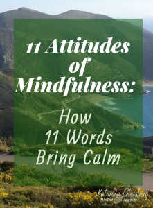 11 Attitudes of Mindfulness: How 11 Words Cause Calm