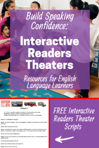 Some of my quietest English Language Learners came alive onstage through the process of Readers Theaters. I created interactive scripts so these team-building projects address Reading, Writing, Speaking, Listening, and Social Emotional skills through classic children's books. You'll find free ELL, ESOL, ESL lessons in my collection of Mindful teaching resources. #esl #english #englishteacher #lessonplans #multipleintelligences #learningenglish #readingcomprehension #teachingenglish