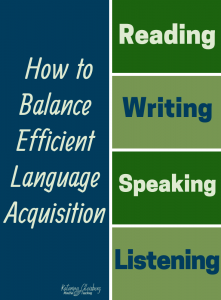 The most effective, engaging language learning contains balance between all four domains of language learning: Reading, Writing, Speaking, and Listening. Enjoy specific balancing techniques and motivational activities that serve English Language Learners of all ages. Join us innovative international ESL teachers, sharing balanced lessons with reading comprehension, speaking and listening strategies, and writing prompts. #esl #english #englishlessons #languagelearning #speaking #reading #writing